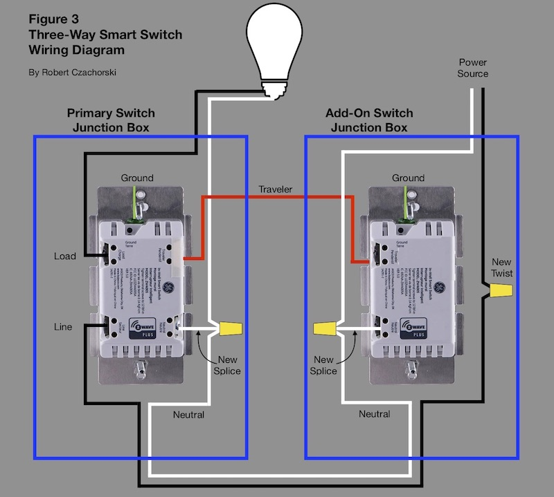 threeway smart switch wiring diagram  h2ometrics